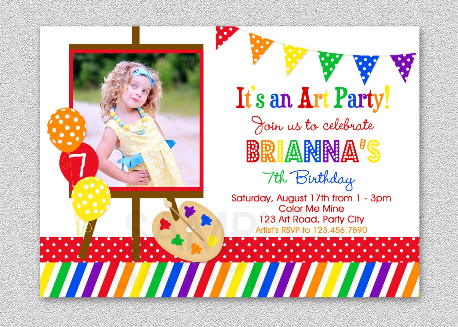 how to make art party invitations free the art themed birthday party invitations art birthday party theme silverlininginvitations