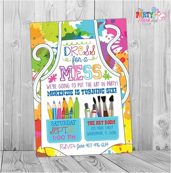 painting party invitation art party
