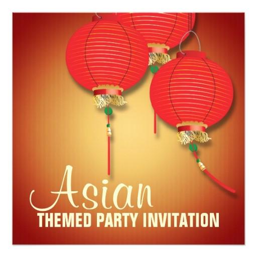 asian birthday invitation