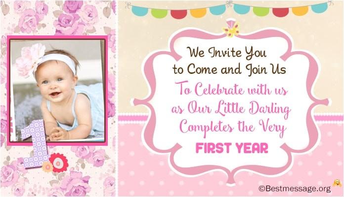 unique cute 1st birthday invitation wording ideas