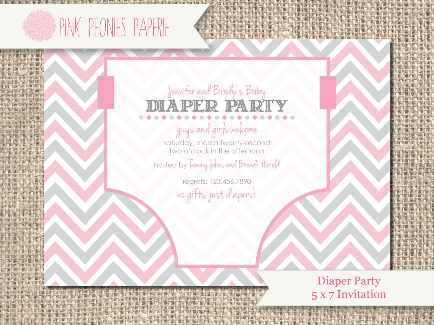 baby shower invitation diaper party