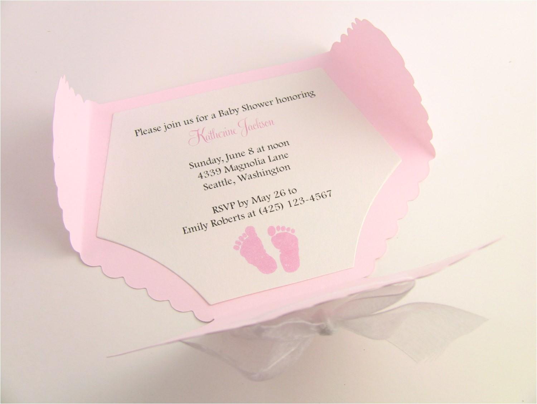baby shower invitations diaper