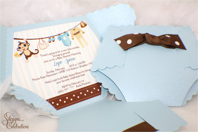 diaper baby shower invitation baby