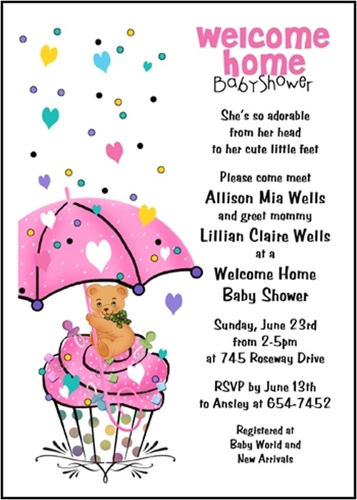 welcome home baby invitations wording 021925445