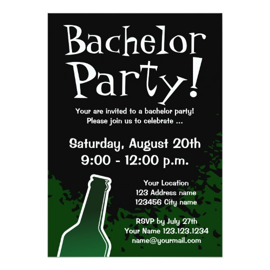 bachelor party invitations custom invites 161825074311408302