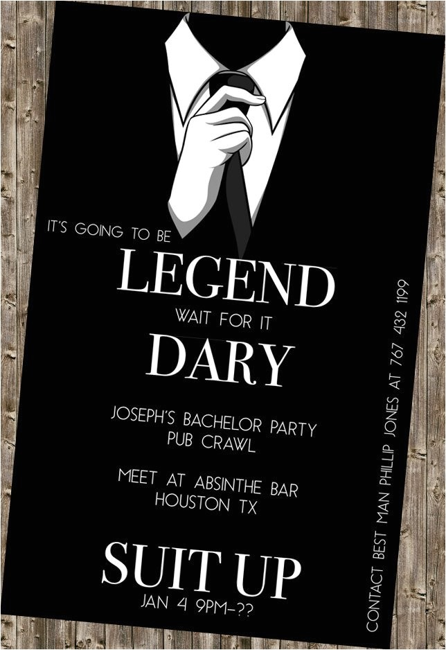 bachelor party invite legendary himym