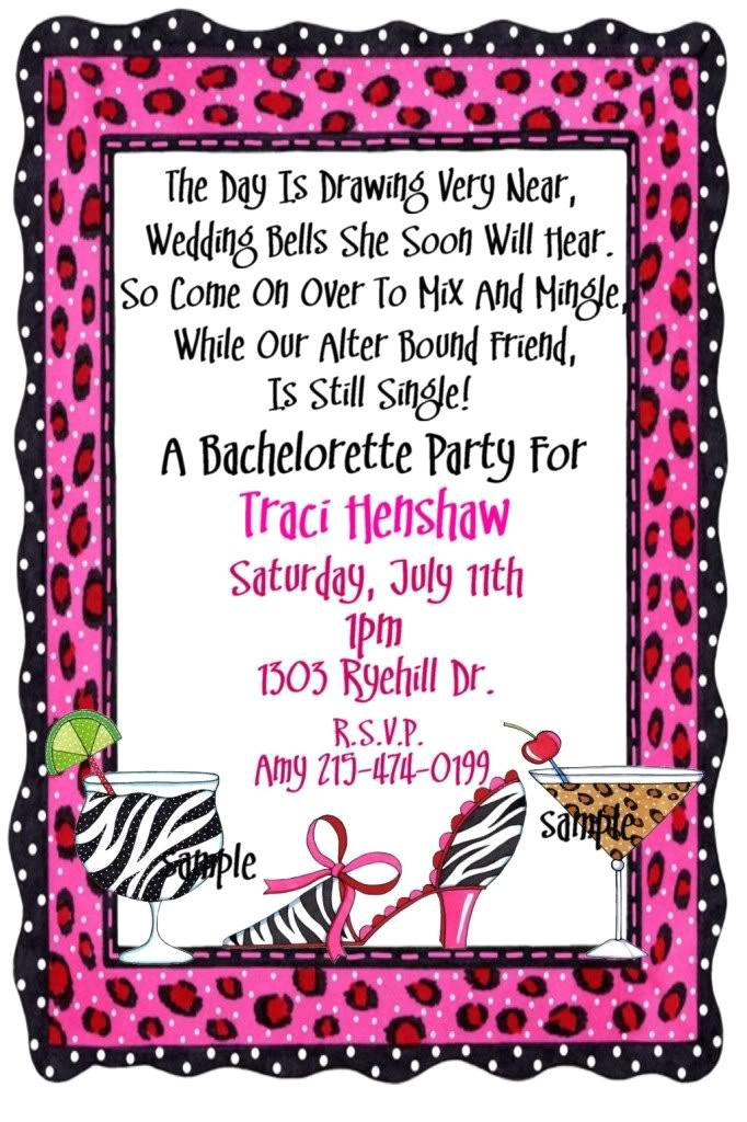 fun bachelor party invitation wording