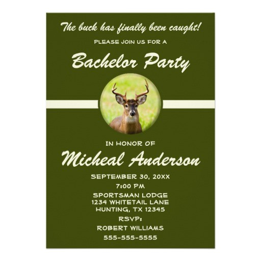 funny animal hunter bachelor stag party invitation 161259935666738775