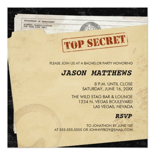 funny top secret bachelor party invitations 161860717241560604