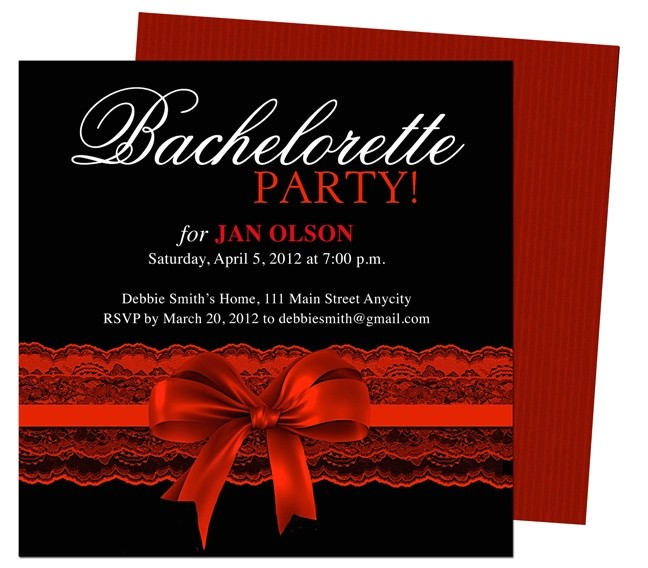 printable diy bachelorette party invitations