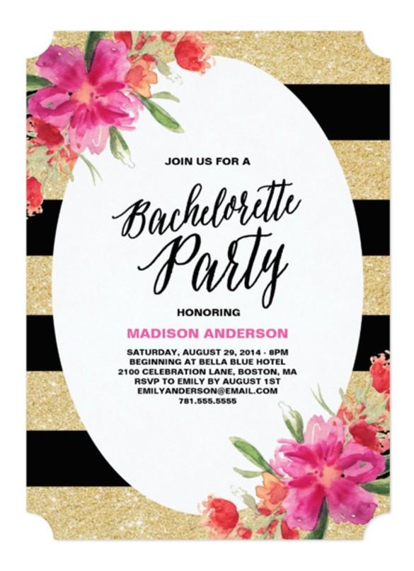 bachelorette invitation template free
