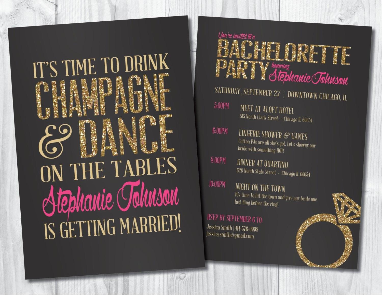 bachelorette invitation bachelorette