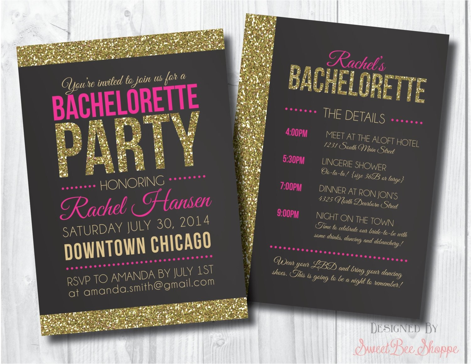 bachelorette invite bachelorette party