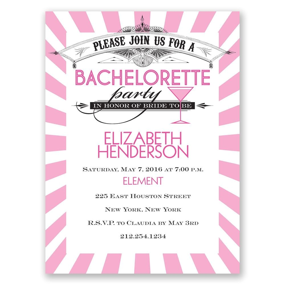 join the party bachelorette party invitation