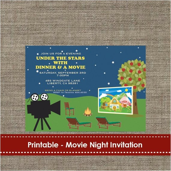 backyard under the stars movie night