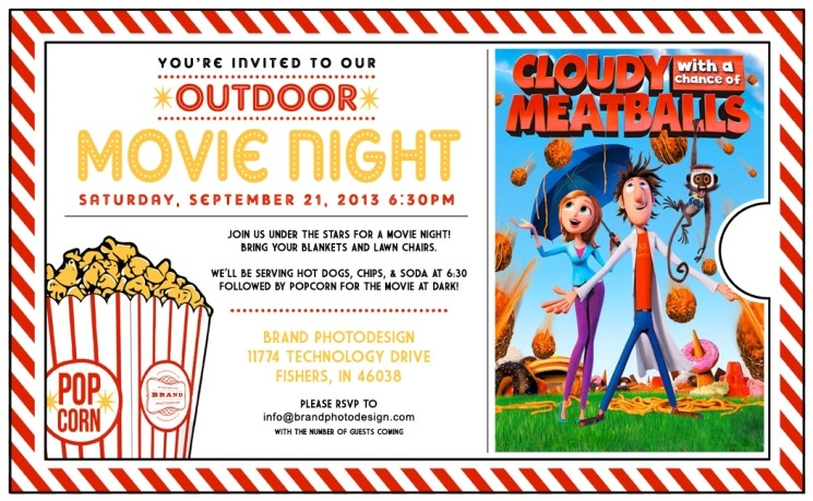 outdoor movie night invitation template 2