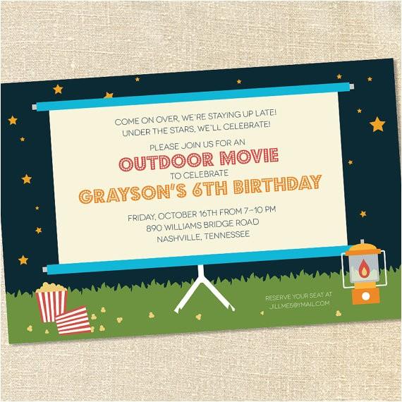 outdoor movie night invitation wording 2