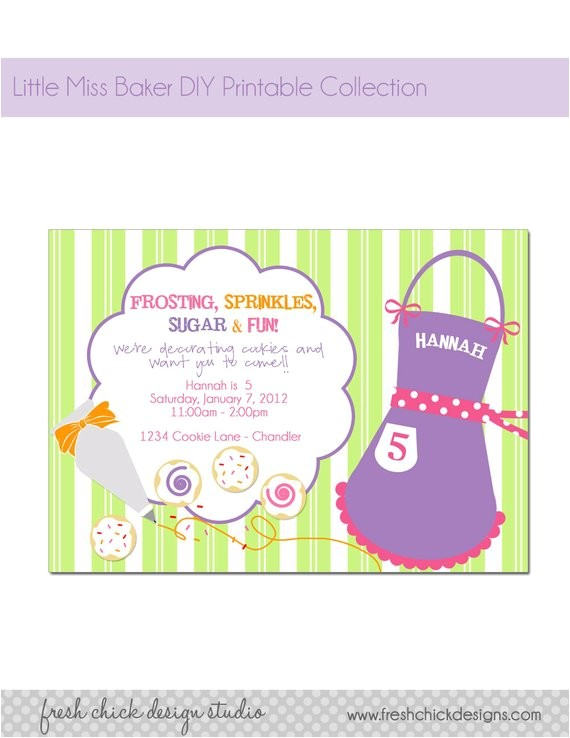 printable party invitation cookie
