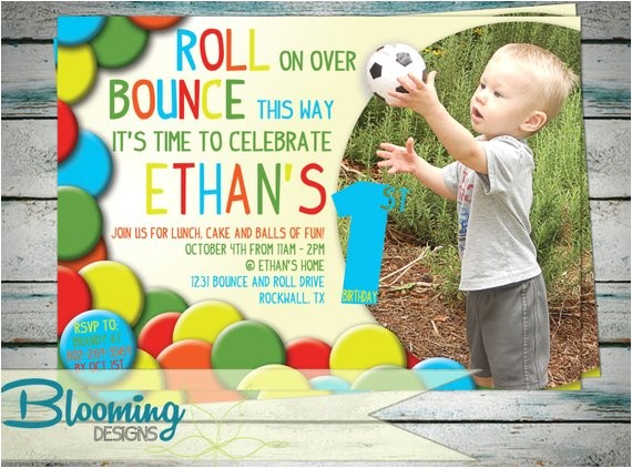 printable have a ball party invite with