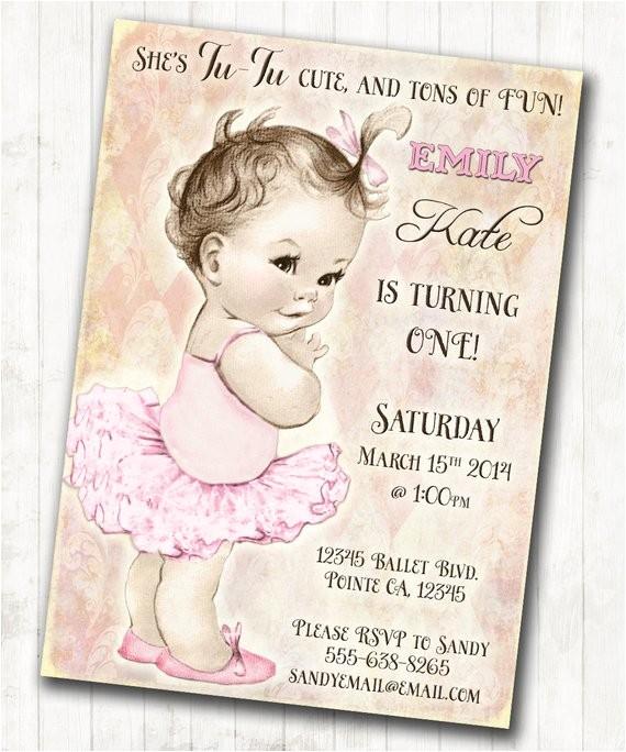 ballerina birthday ballerina invitation