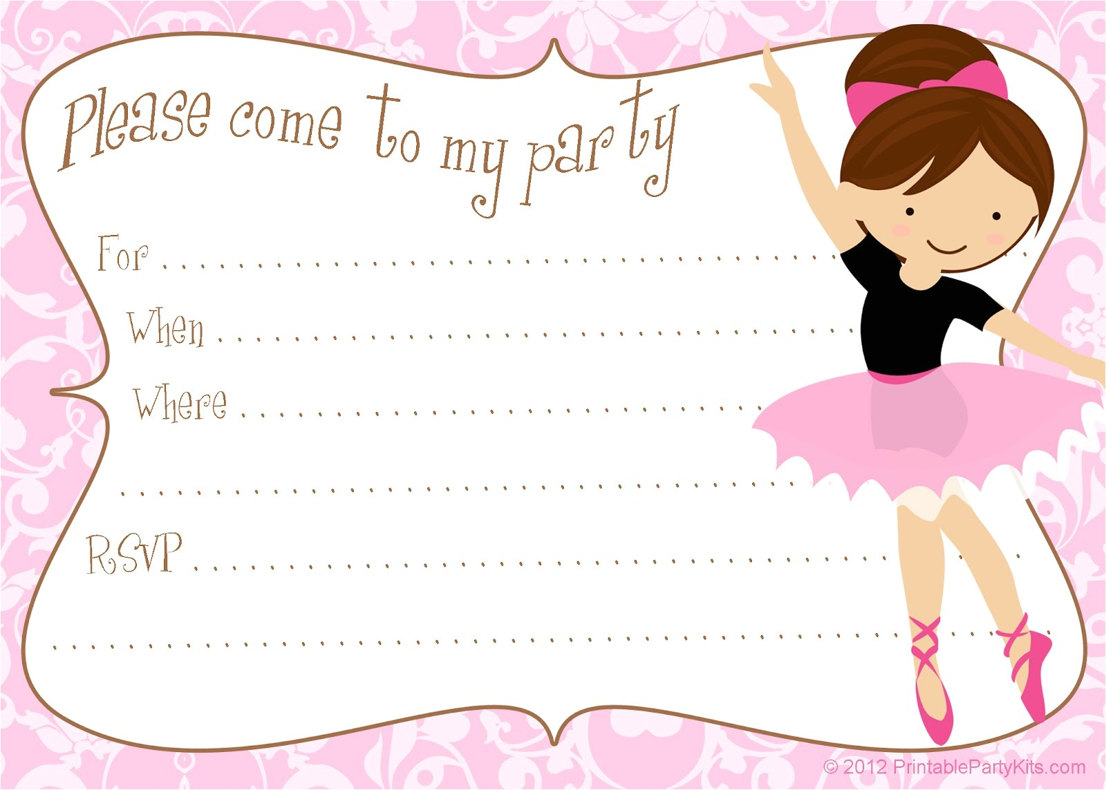ballerina invites