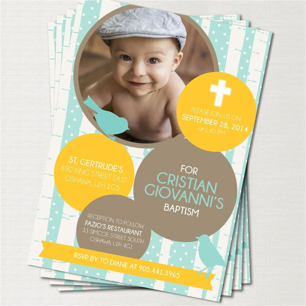 1st birthday baptism invitations