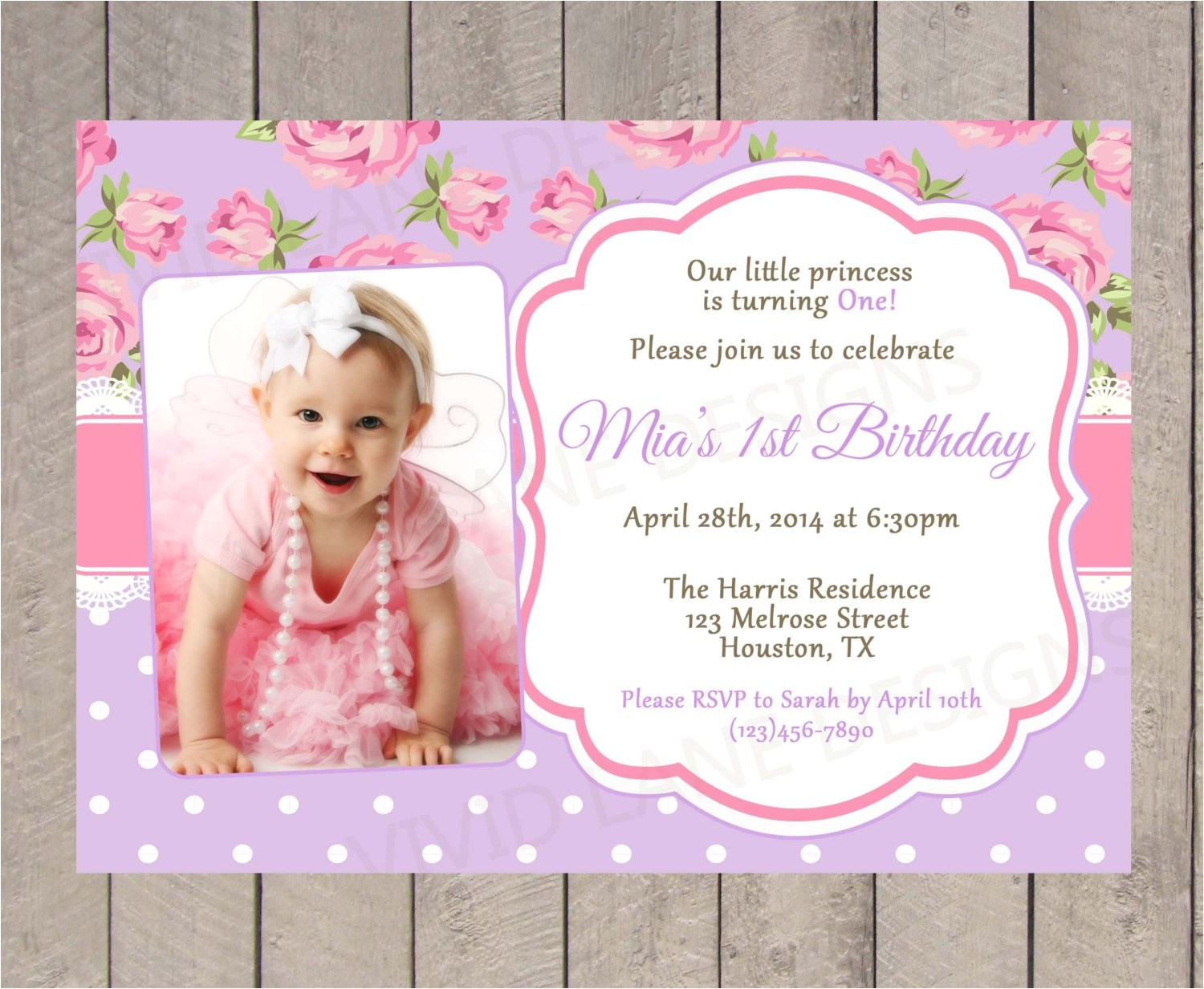 christening and birthday invitation