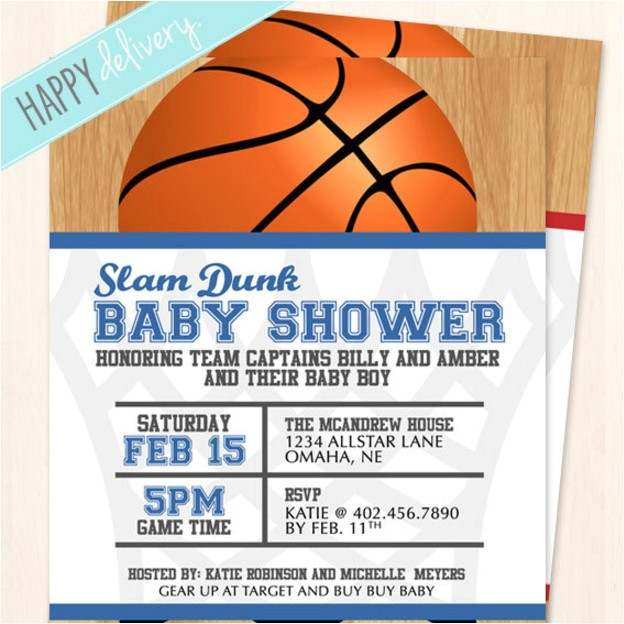 basketball baby shower invitations wording