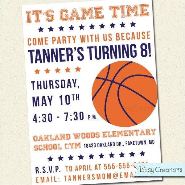 basketball birthday party printable