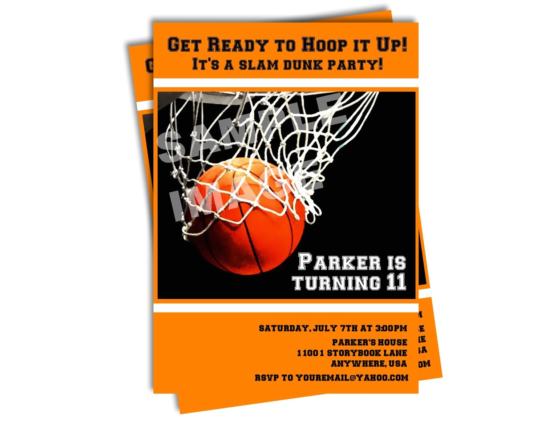 basketball invitation sports invitation