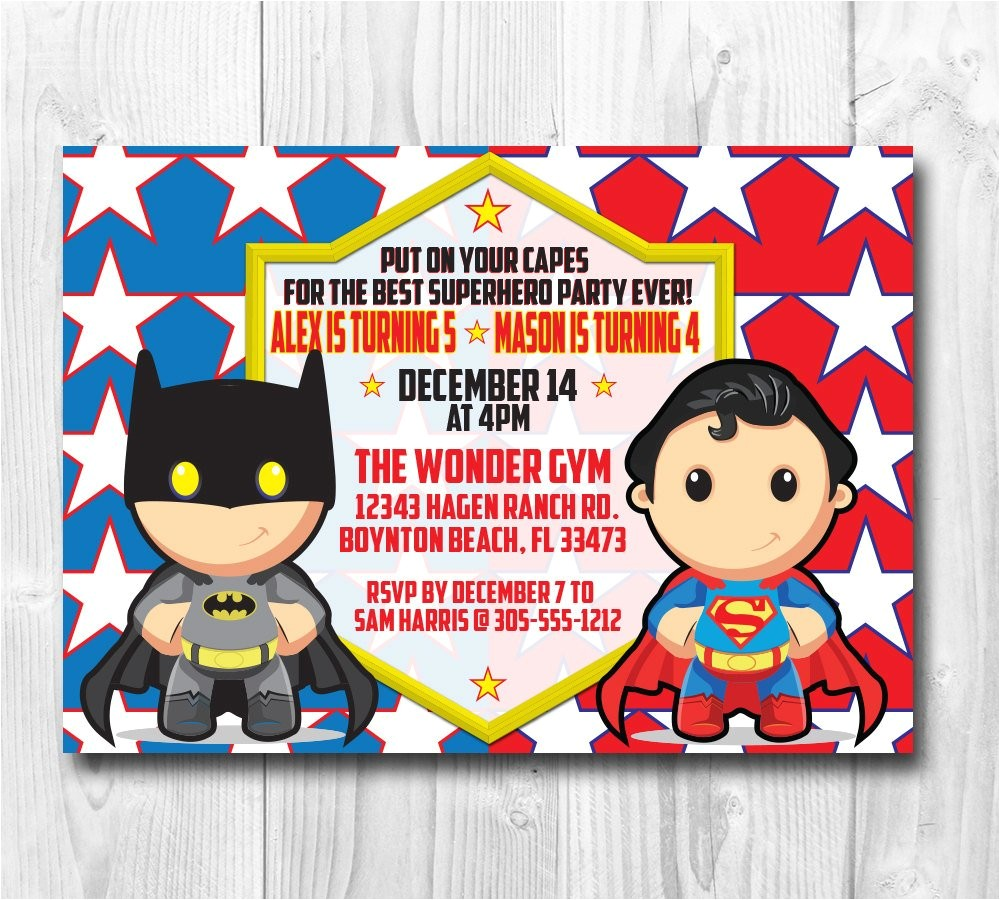 superman batman wonderwoman birthday