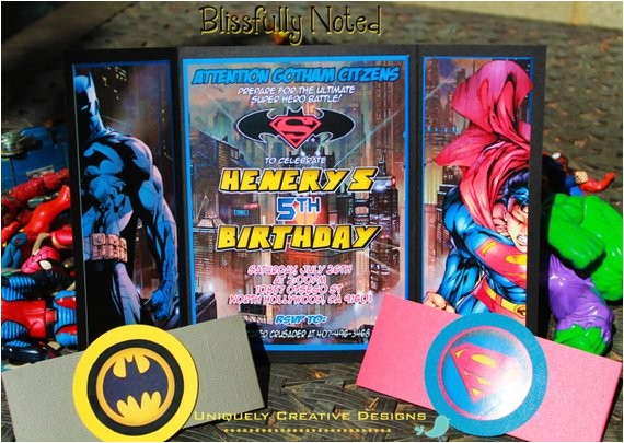 batman vs superman birthday invitations ref related 6