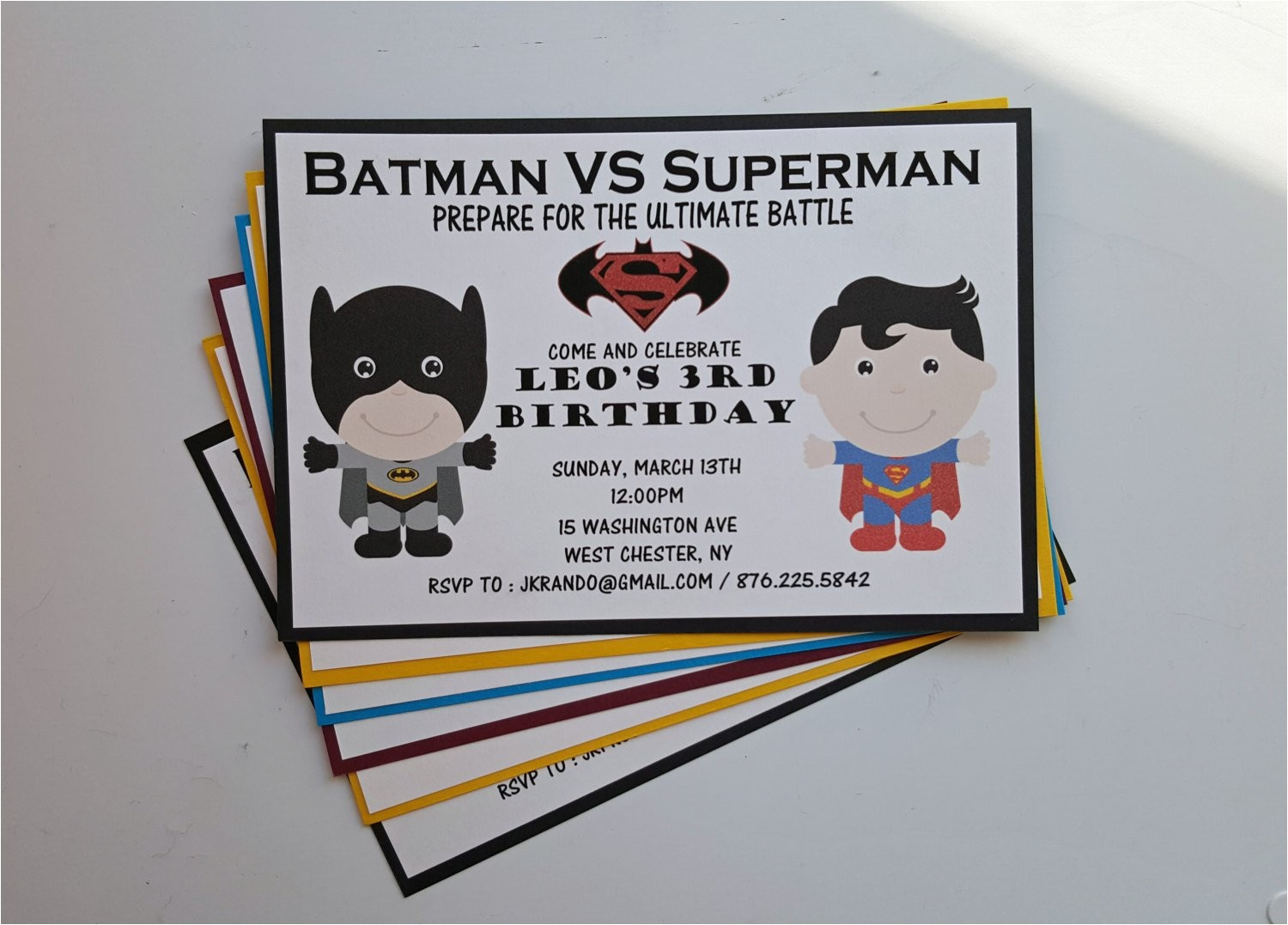 batman vs superman birthday party