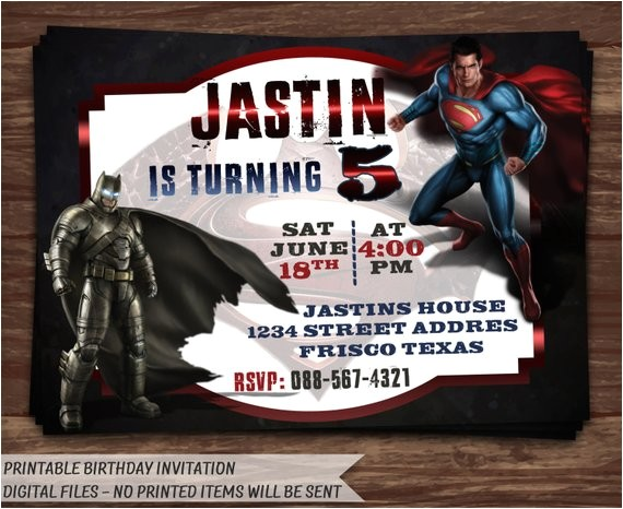 batman vs superman invitationbatman vs