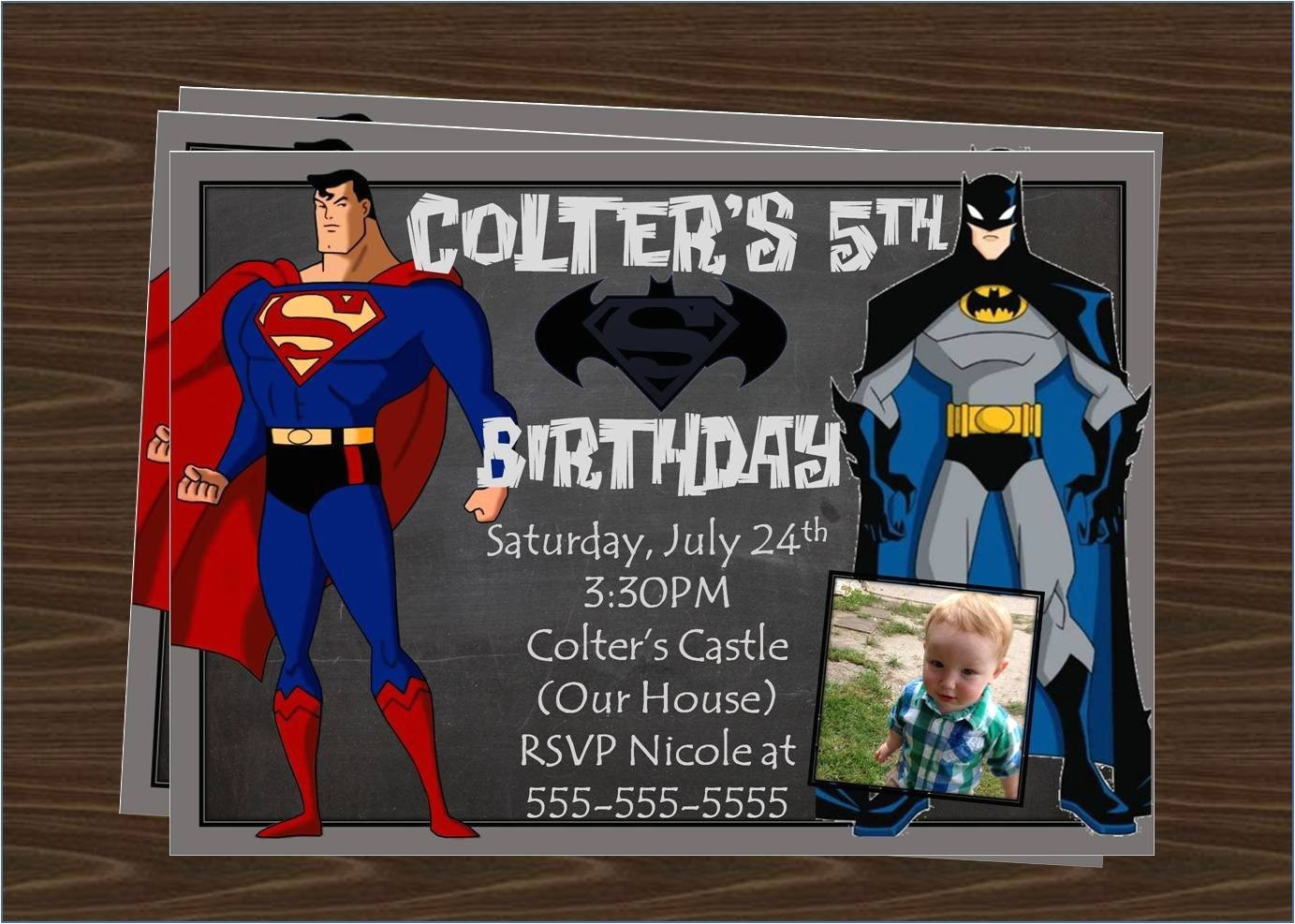 superman vs batman birthday party