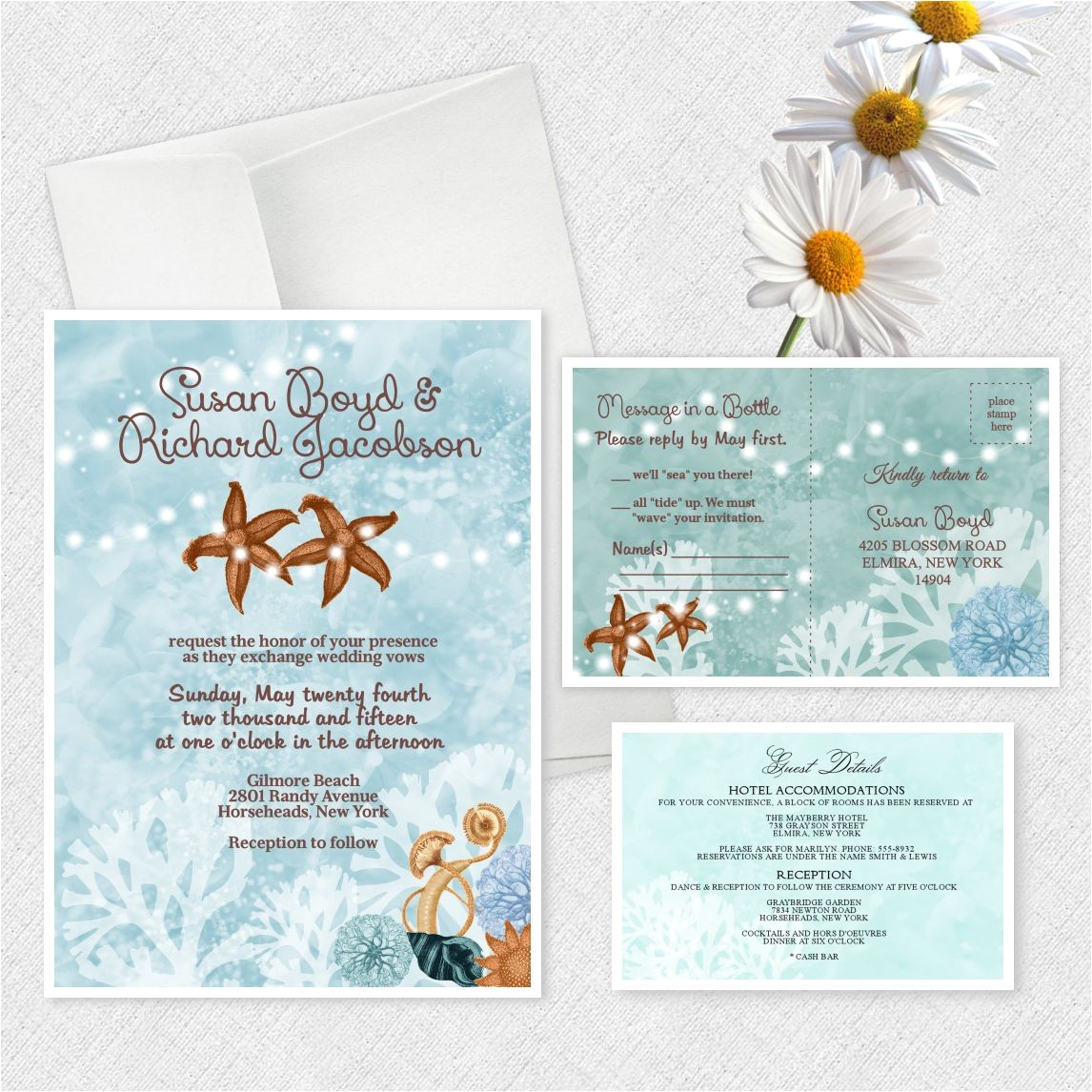 beach themed engagement party invitations