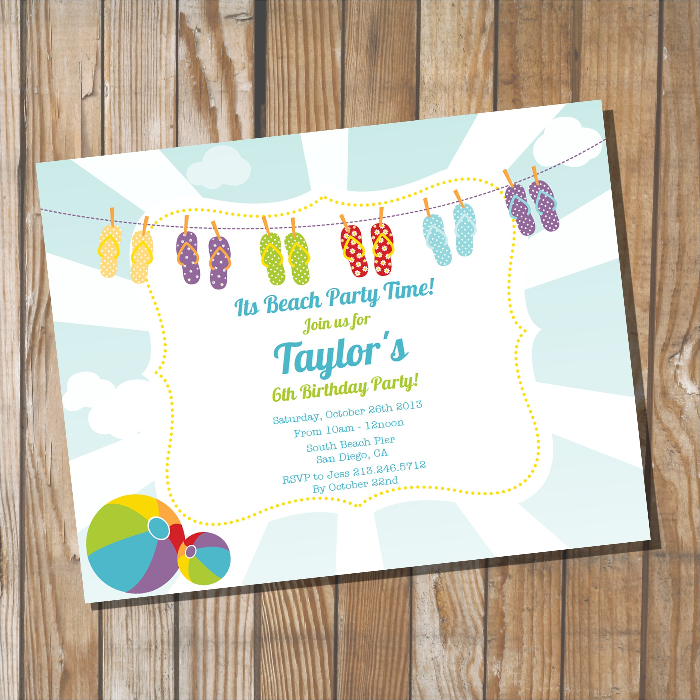 unique ideas for beach party invitations ideas