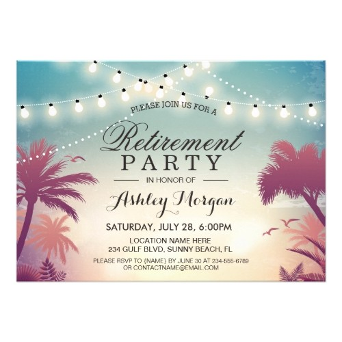 beach themed retirement party invitations