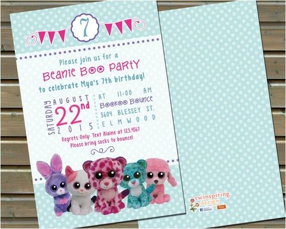 20 or 30 printed beanie boo birthday