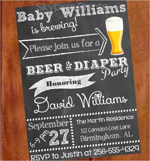 personalized printable beer and diaper