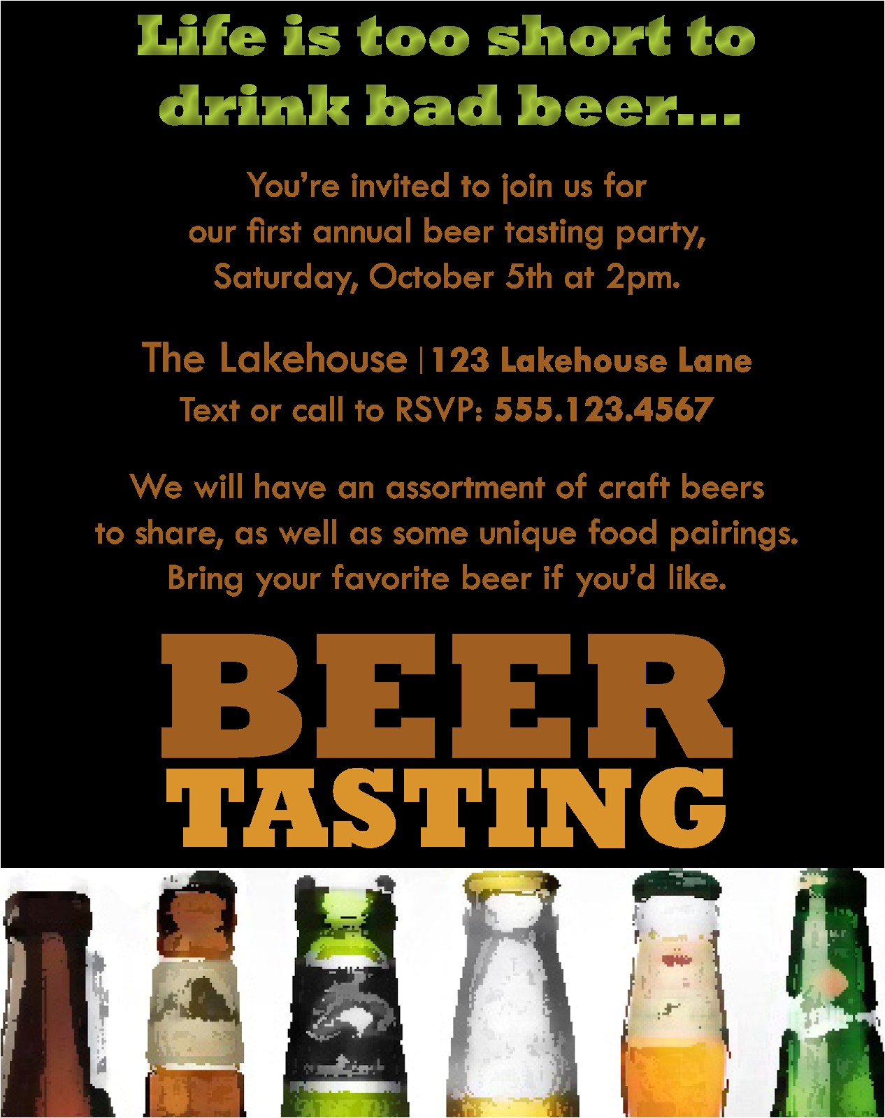 beer tasting party invitations