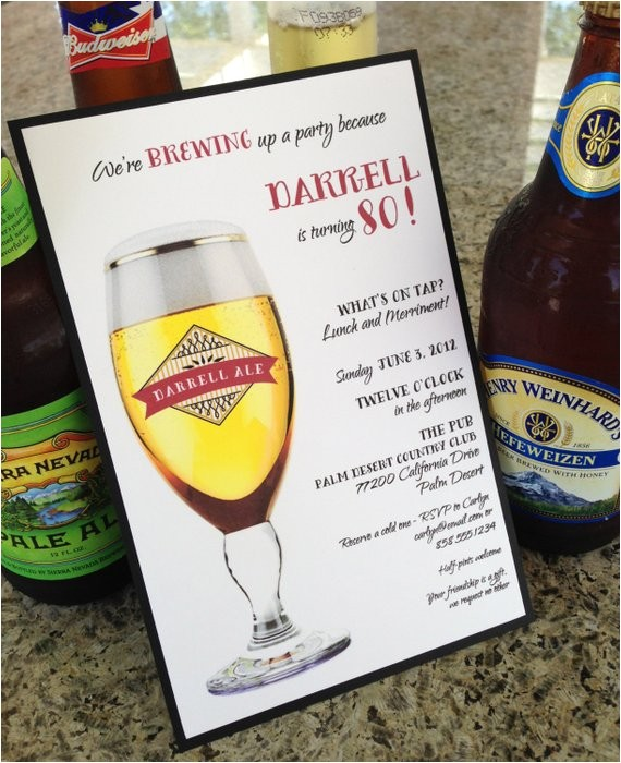 beer theme party invitations