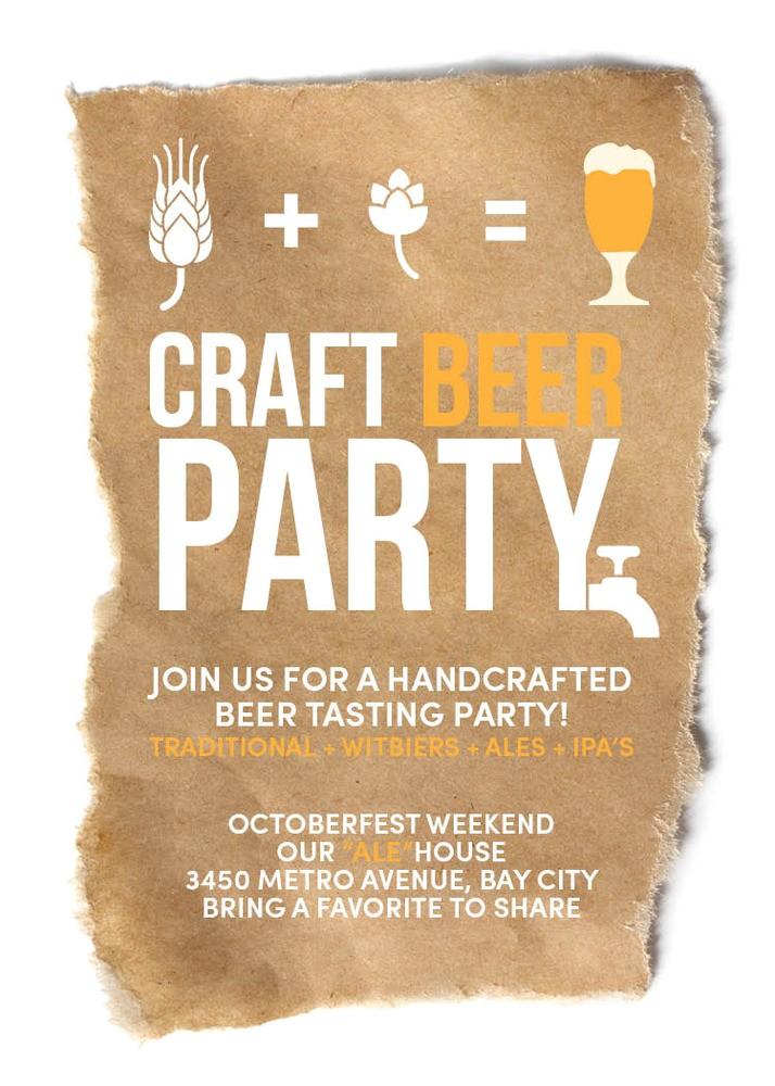 craft beer invitation octoberfest