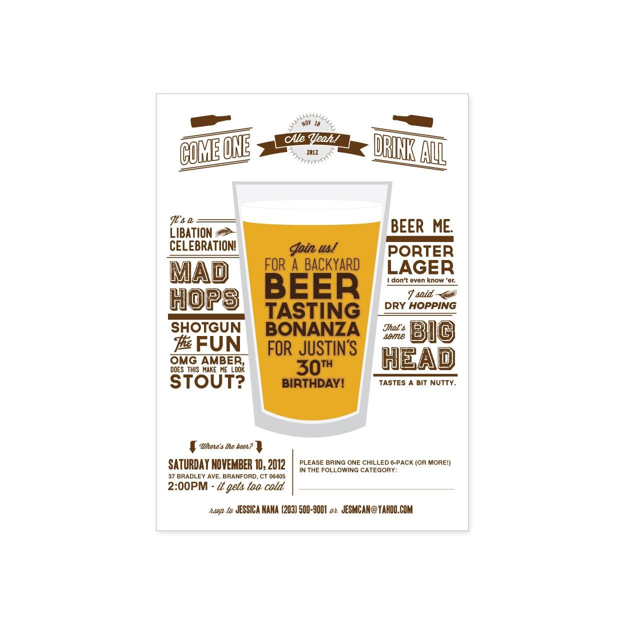 wine beer tasting invitation templates