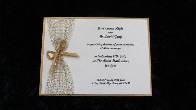 small wedding invitation wordi