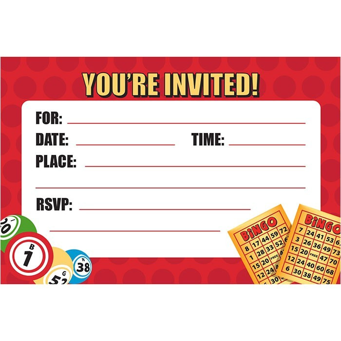 bingo party invitations