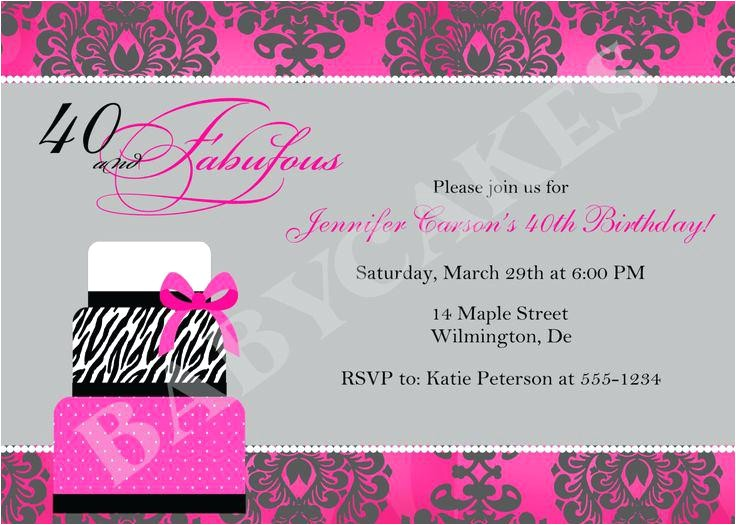 birthday invitations 14 year old party