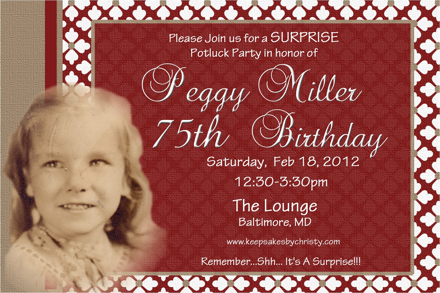 Birthday Invitations for 75th Party 75th Birthday Invitations Ideas Bagvania Free Printable