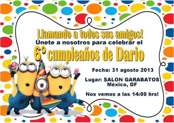 spanish birthday invitations