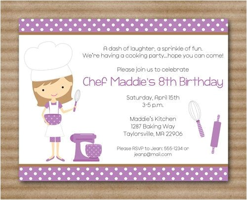 cooking birthday party invitations superb drop off party invitation wording